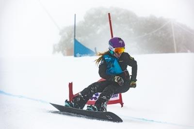 Division 3 Girls Snowboard GS – Race Shots