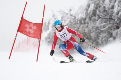 Division 1 Girls Alpine GS Action Shots