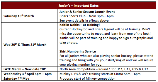 Training & Competition - Briars Hockey Club - revolutioniseSPORT