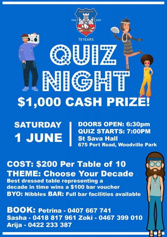 2873a95304e03 Our annual Quiz Night is coming up and with it