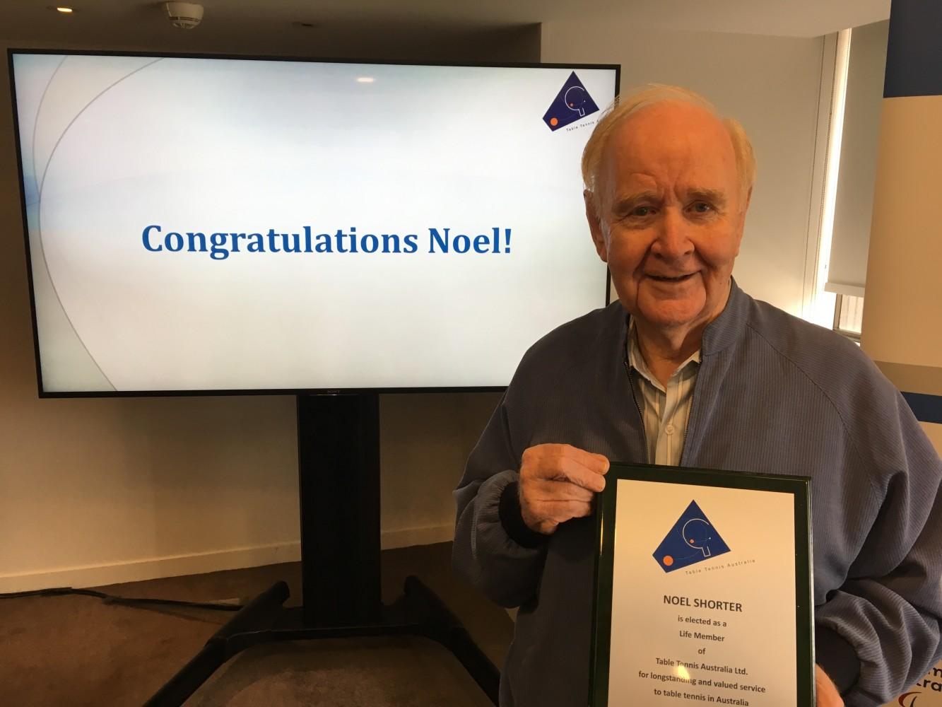 Noel Shorter Awarded TTA Life Membership