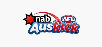 Auskick Logo on a grey background