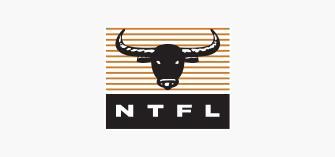 NTFL Logo on a grey background