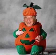 Broni in her pumpkin outfit