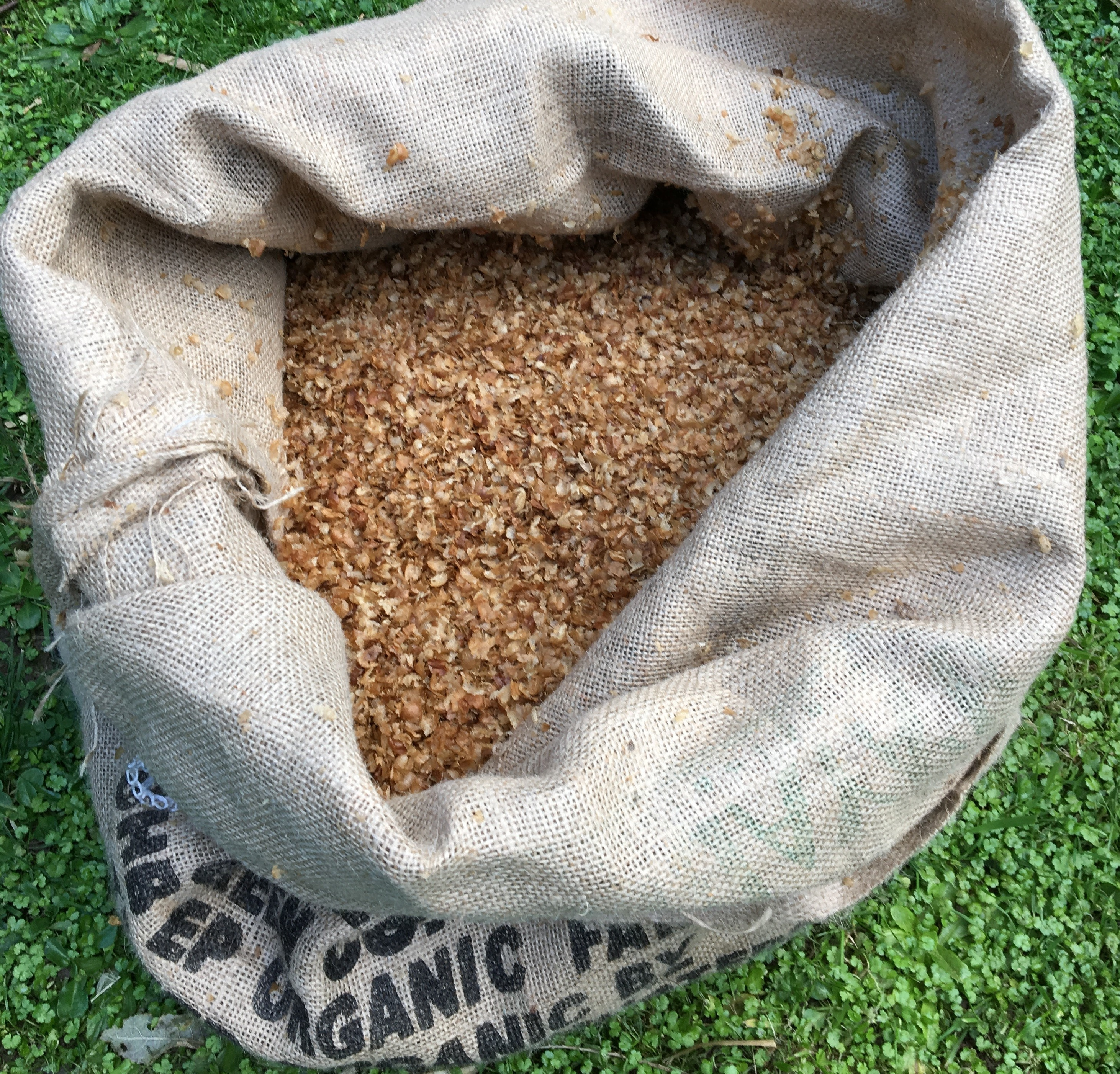 An Aromatic Bag Of Coffee Chaff