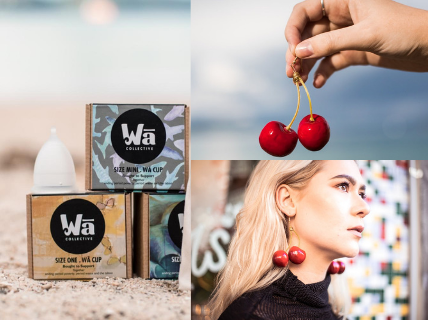 Wā Collective Cup & Cherry Earrings