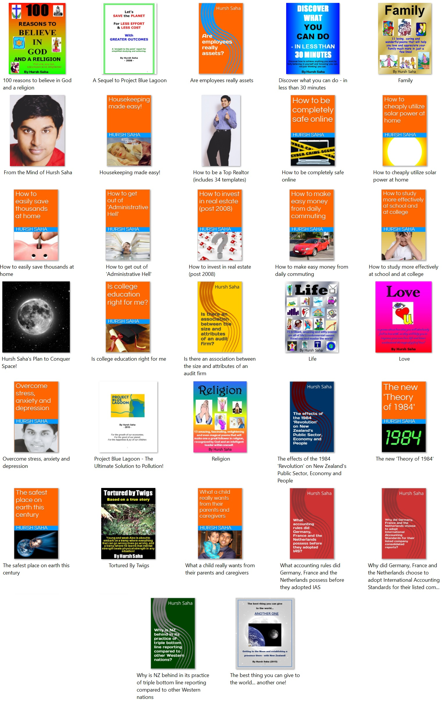 All 32 E Books Written And Published By Myself
