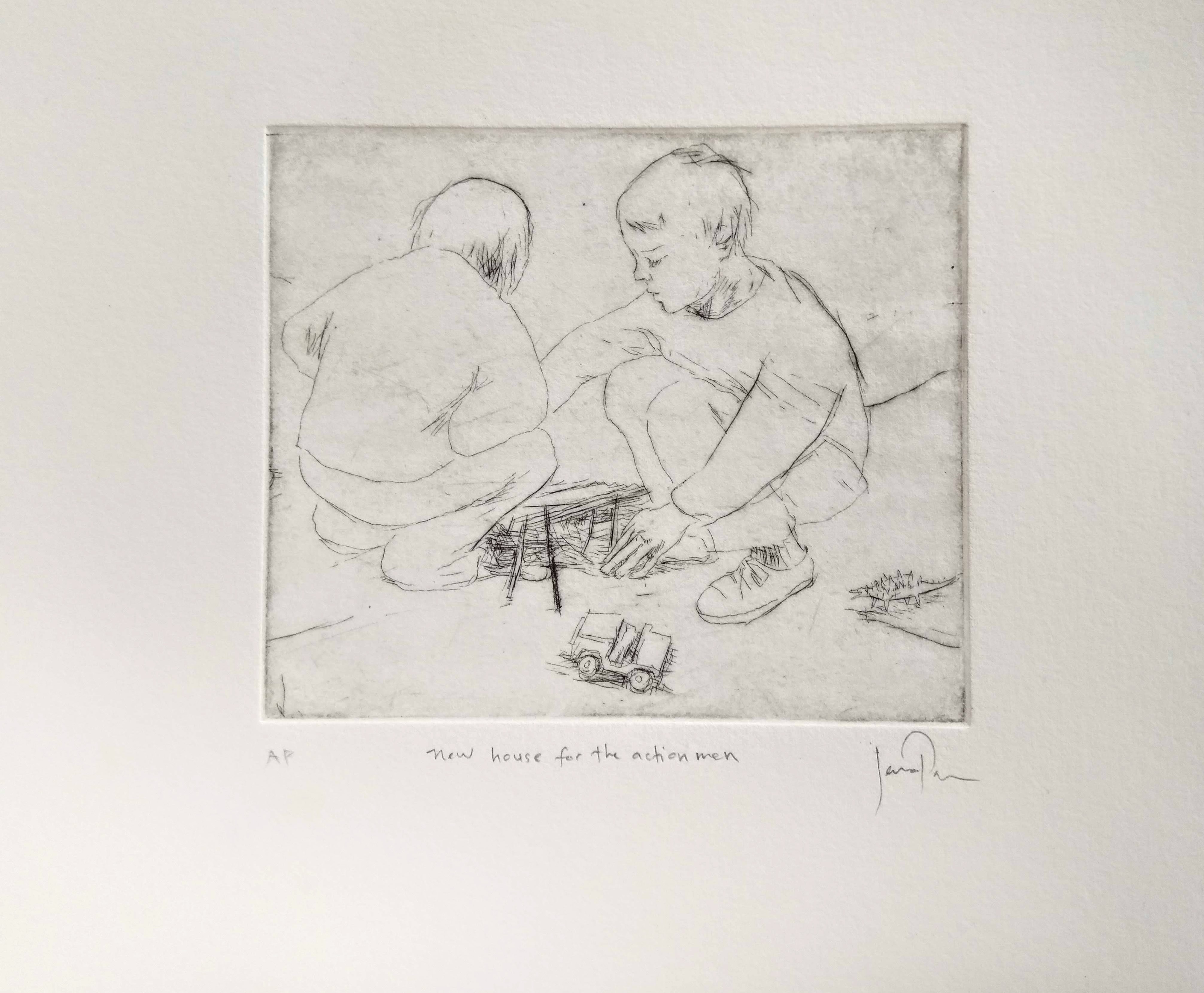 Etching: 'New House For The Action Men'