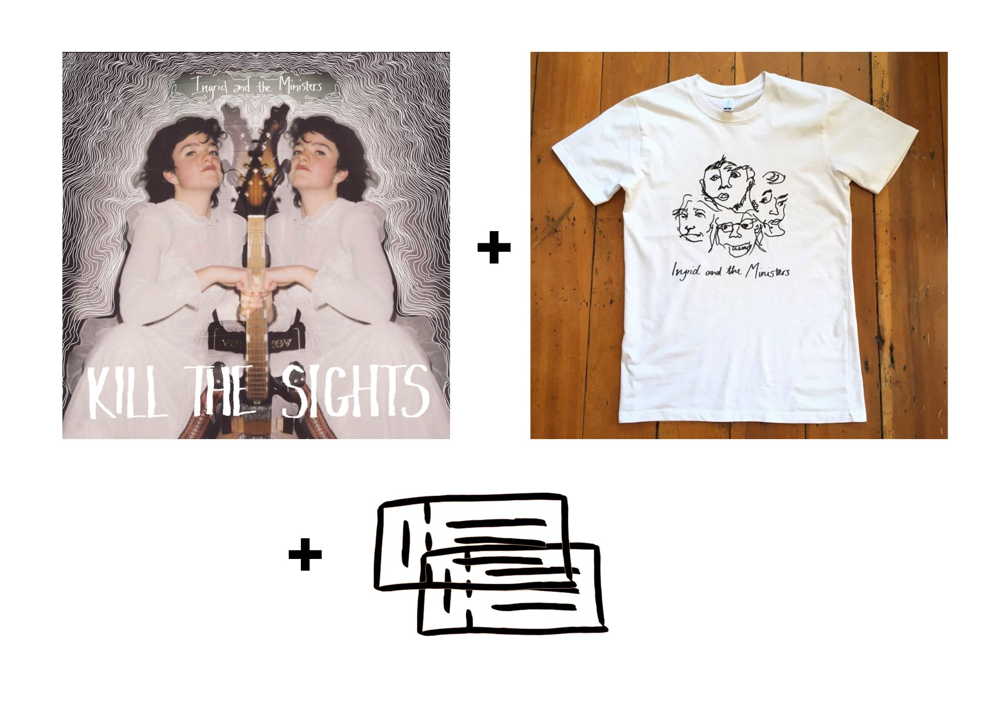 "12"" Vinyl LP + T-Shirt + 2x Gig Tickets"
