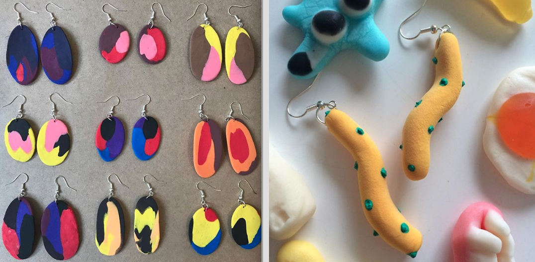 Giggles + Splat Handmade Earrings :)