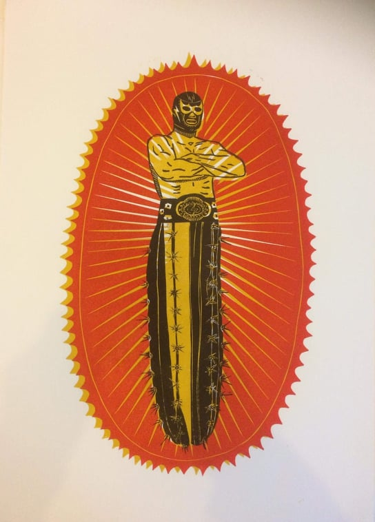 Woodcut (hand Printed) Print By MB Stoneman