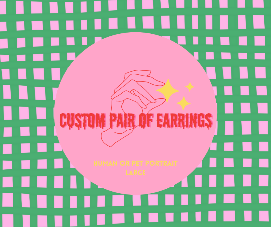 Custom Made Earings (large) By Azure Ellis