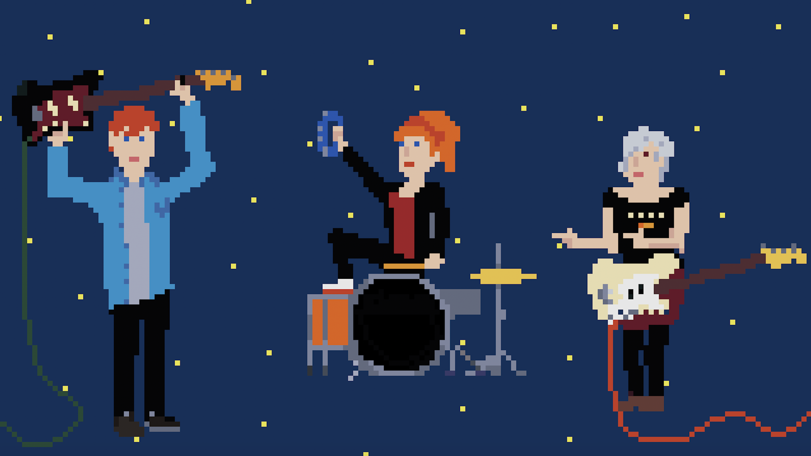 Personalised 8-Bit Band Photo
