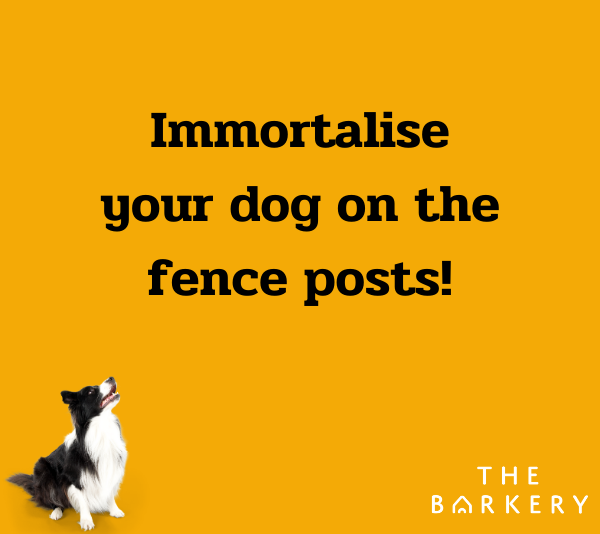 Immortalise Your Dog On The Fence Posts