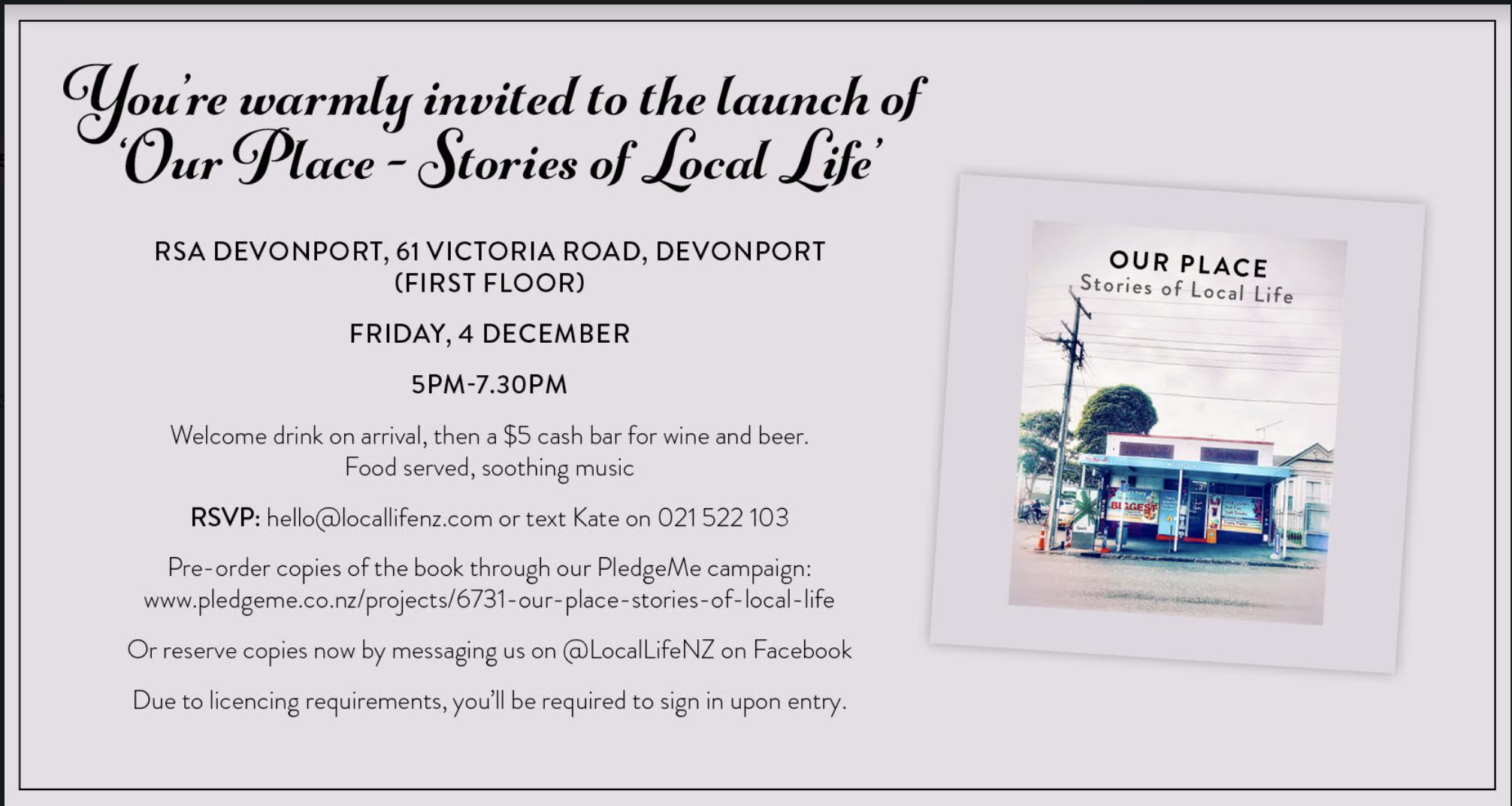 Book Launch Party Invitation
