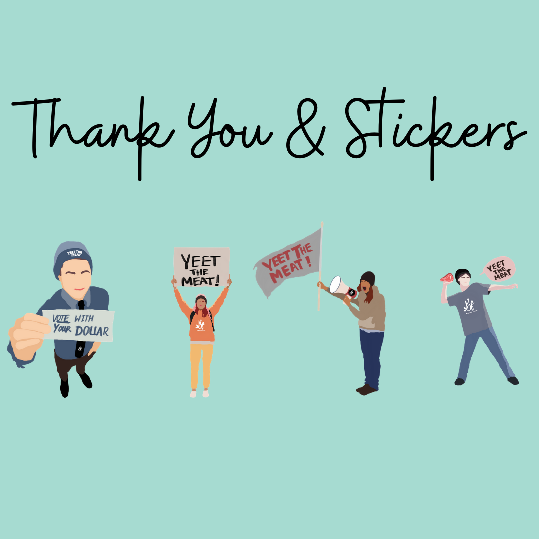 4x YTM Stickers & Thank You.