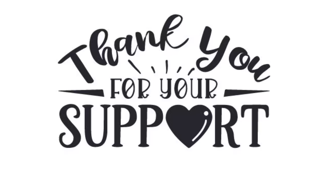 Thank-You For Your Support!