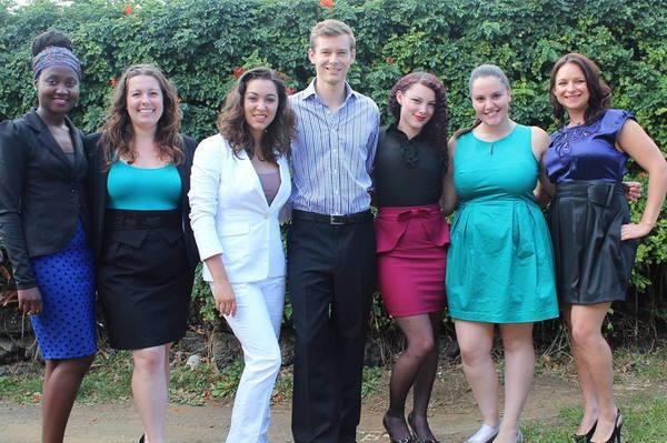 NZCC WCCS Delegates 2014 from left Kudzai, Ali, Kara, Andrew, Leesha, Shira and Sonya