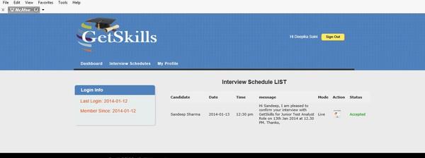 InterviewSchedule