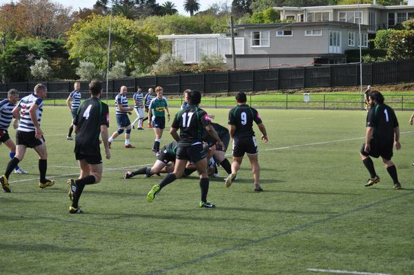 The NZ Falcons versus College Rifles - With me keeping an eye on that ruck