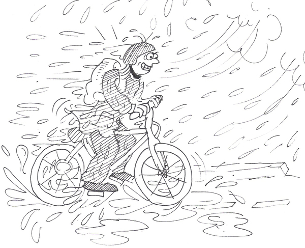 rainy bike