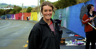 Michela Carrington,  Youth Week Mural 2014