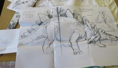 Stegosaurus embroidery