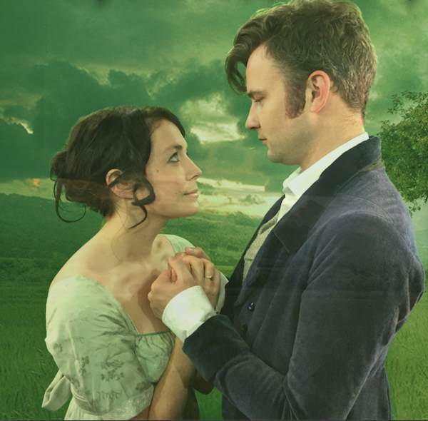 Sam Goodchild and Aimee Olivia as Mr Darcy and Elizabeth Bennet