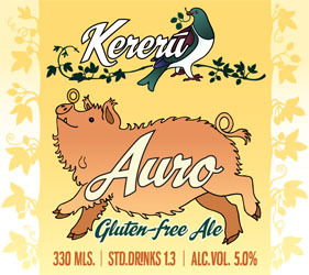 Kereru Brewing Co Gluten-Free Auro Label
