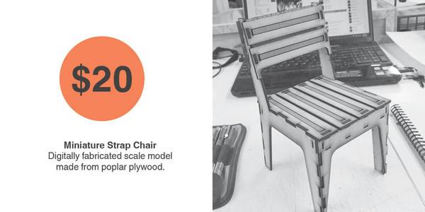 Miniature Strap Chair
