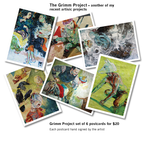 Grimm project postcards
