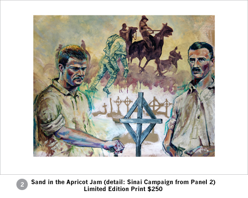 Limited edition print Sand in the Apricot Jam 'Detail Sinai Campaign'