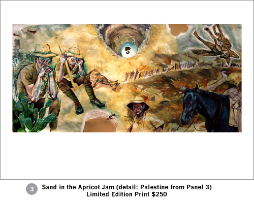 Limited Edition print Sand in the Apricot Jam - detail Palestine panel 3