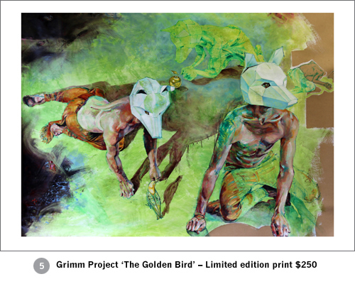 Limited edition print Grimm Project 'The Golden Bird'