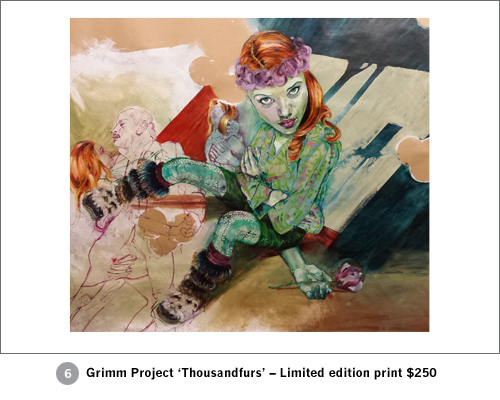 Limited edition print Grimm Project 'thousandfurs'