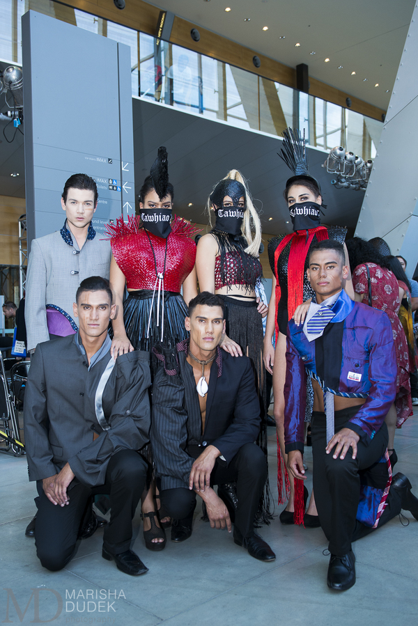after the Runway with Shona Tawhiao's Models