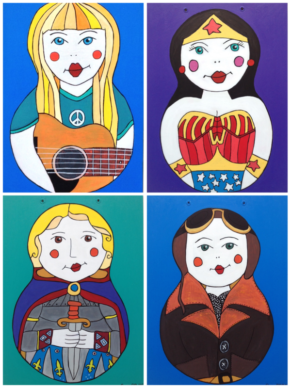 Russian Doll paintings