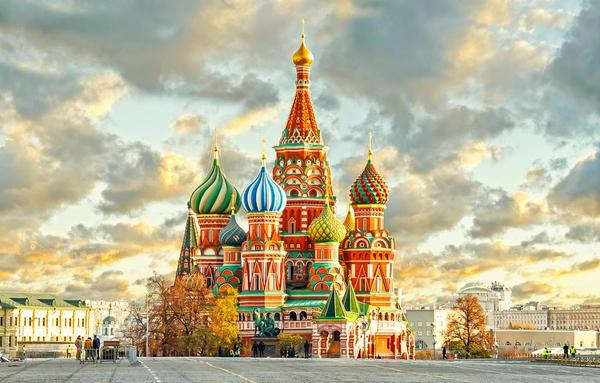 Thank you Card depicting Saint Basil's Cathedral - Moscow