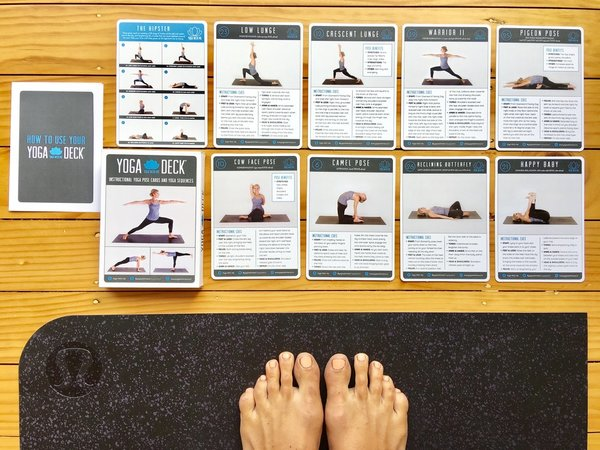 Shirley McLeod is the creator of the Yoga Deck - instructional yoga pose cards and sample sequences