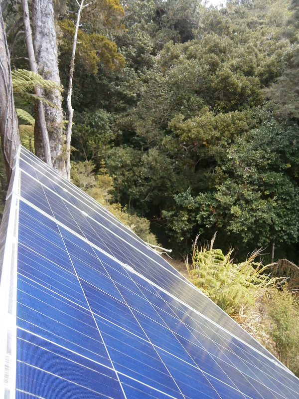 Solar panels in the bush