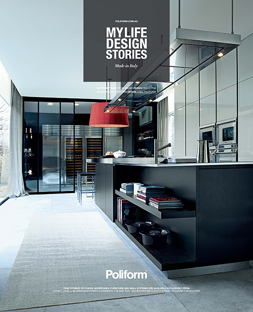 Advertising Matrix Kitchen Poliform Australia
