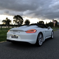 """speedster"" style rear on a 981 Boxster Spyder"