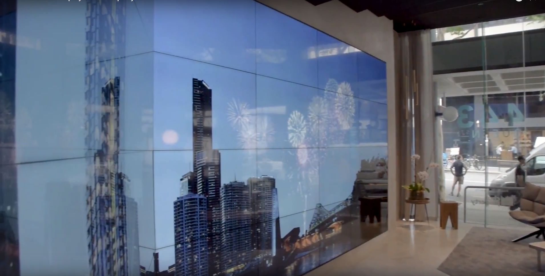 Interactive 10K Video Wall Made of LG Screens