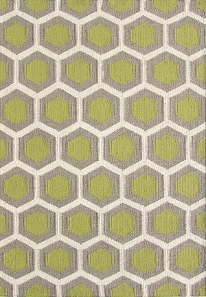 Bayliss Hive Lime Green Wool Rug 160cm x 230cm $549
