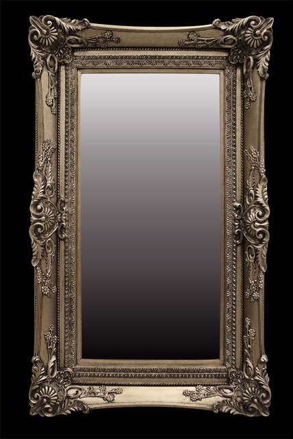 medium-large Gold framed mirror 150 cms x 130cms