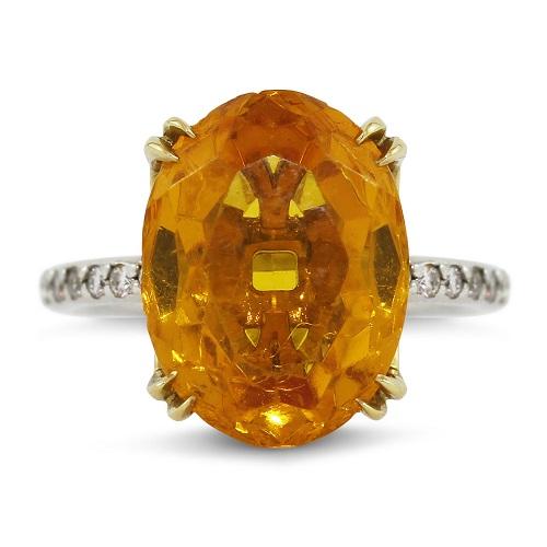 Stunning Natural Orange Citrine Ring
