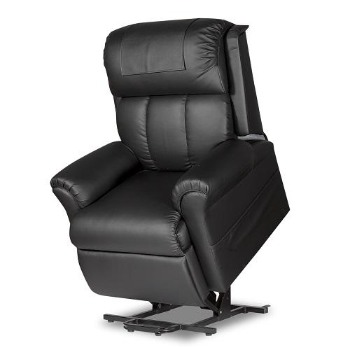 Robust Black PU Leather Lift Chair