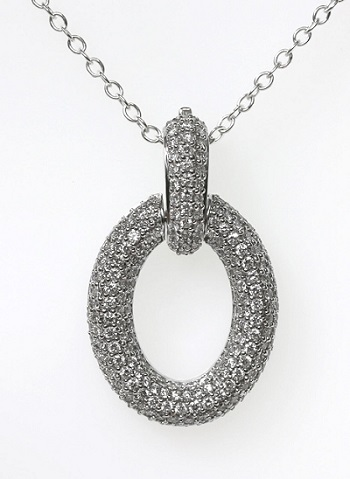 18ct W/G Pave set diamond enhancer