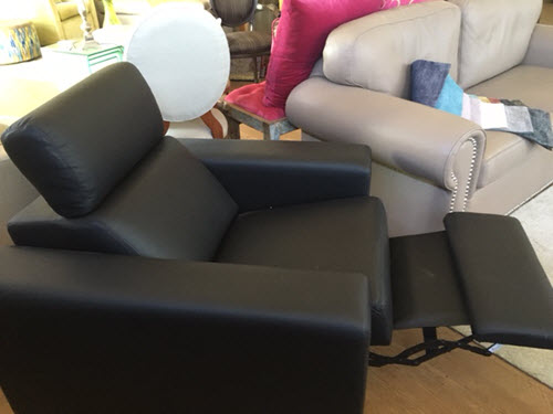 Black Leather Recliner, Made in WA