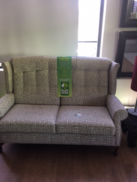High back traditional 2.5 seater